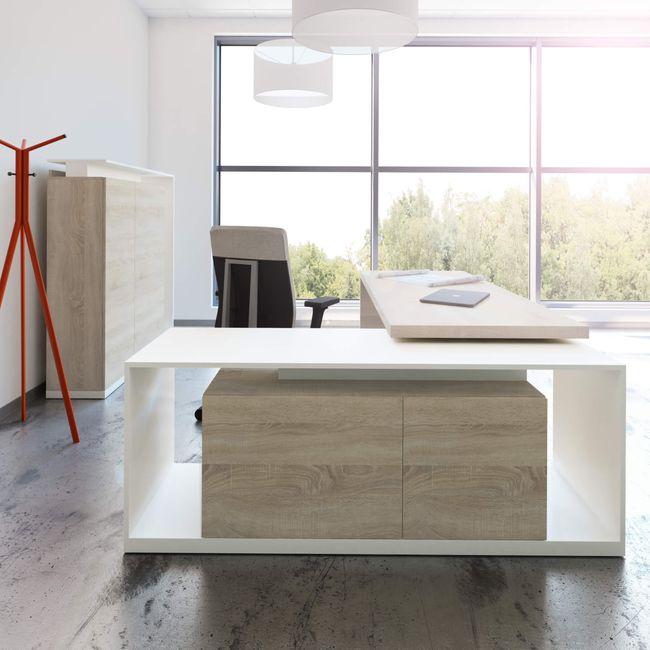AVION Chefbüro Set - Inklusive Montageservice | Eiche Sonoma