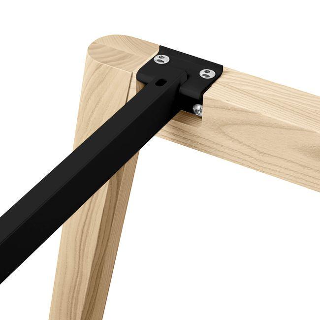Konferenztisch NOVA Wood FENIX HPL 2.400 x 1.200 mm mit Kabeldurchlass Schwarz Echtholzgestell – Bild 7