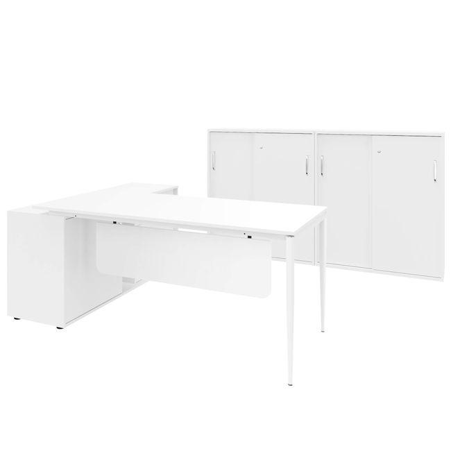 VARIAN Chefbüro Set - Inklusive Montageservice | Weiß