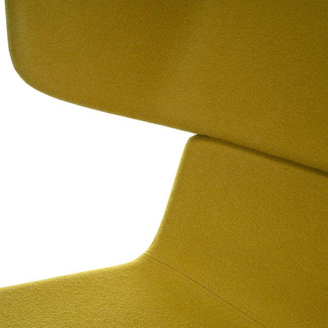 TWIST&SIT Ohrensessel | 4-Fuß-Kreuz, höhenverstellbar, Wollbezug VELITO