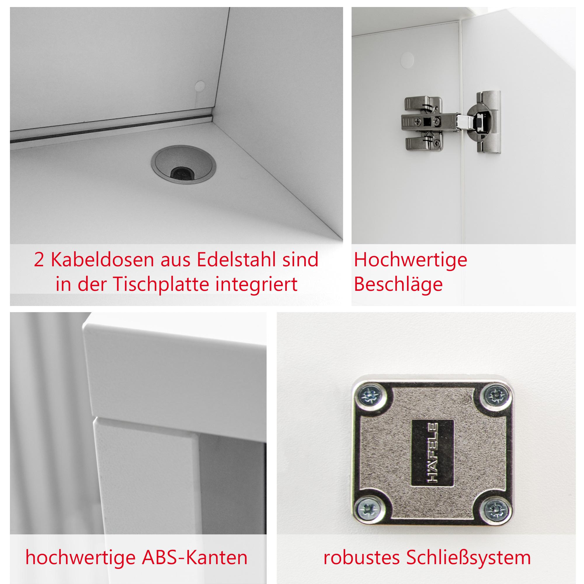 Empfangstheke NOVUM Farbe & Größe wählbar Rezeption Tresen Empfang Verkaufstheke