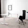 TELDRA Winkelschreibtisch | Elektrisch höhenverstellbar, 1800 x 1600 mm, Weiß