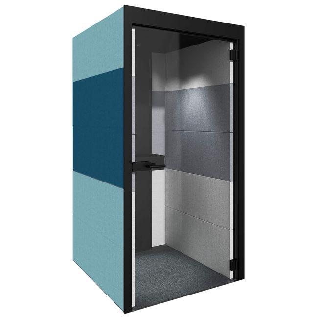 SILENT ROOM S - Telefonbox   Schallschutz, Für 1 Person, Bezugsstoffe BERTA / VELITO / SYNERGY