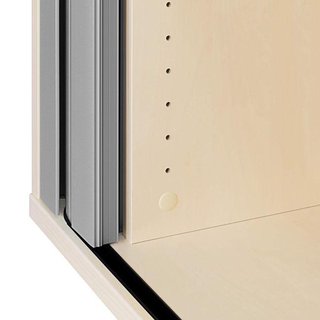 UNI Querrollladenschrank   2 OH, 1000 x 777 mm, Ahorn / Silbergrau