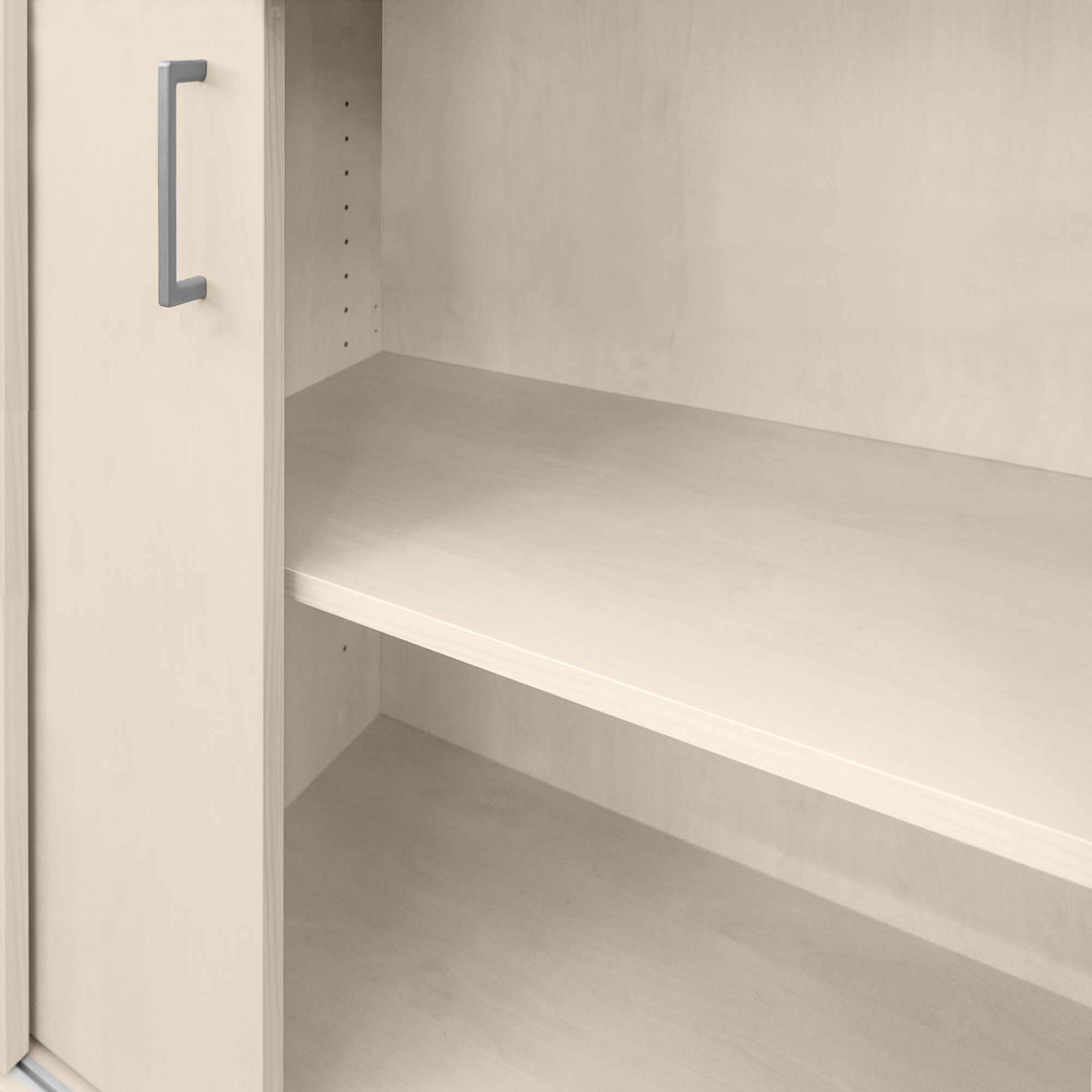 UNI PROFI Schiebetürenschrank abschließbar 1,2M - 5OH Ahorn Schrank Aktenschrank
