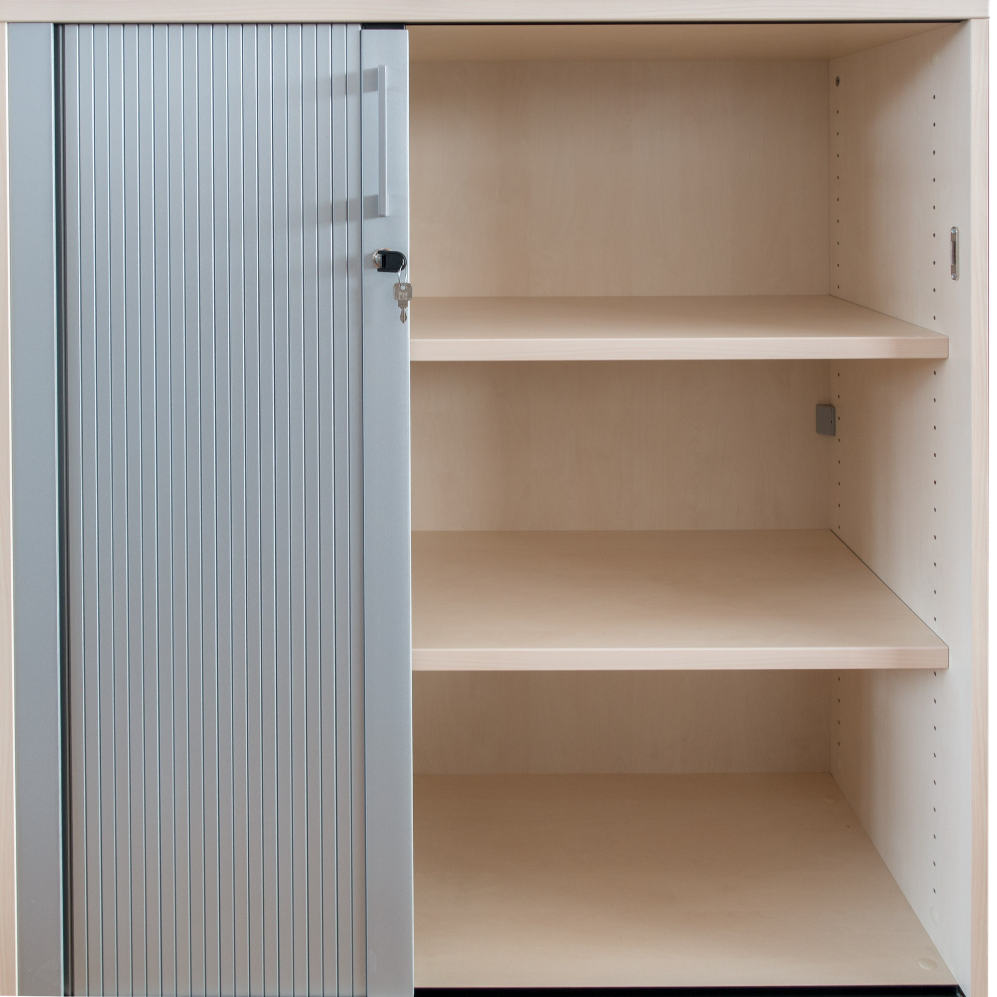 profi jalousieschrank ahorn silber 3oh 1 0m quer. Black Bedroom Furniture Sets. Home Design Ideas