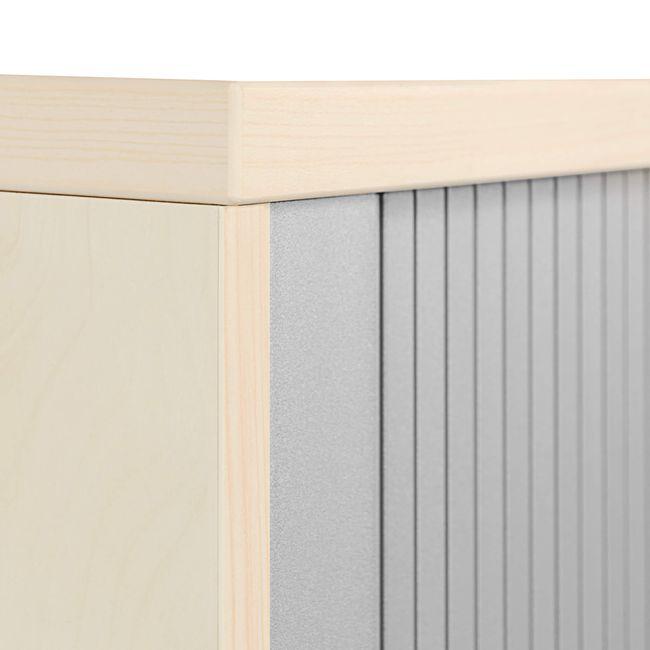 UNI Querrollladenschrank   3 OH, 1000 x 1143 mm, Ahorn / Silbergrau