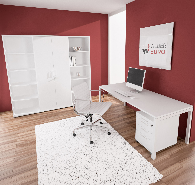 PROFI-Komplettbüro NOVA Paris in Weiß Homeoffice Komplettset Büro