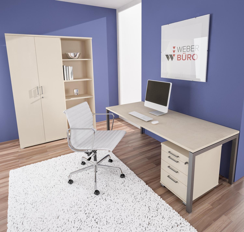 PROFI-Komplettbüro NOVA Berlin in Ahorn Homeoffice Komplettset Büro