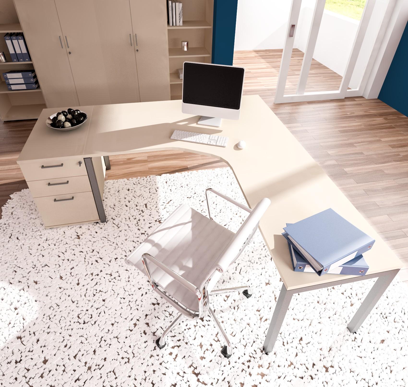 PROFI-Komplettbüro NOVA München in Ahorn Homeoffice Komplettset Cheffbüro