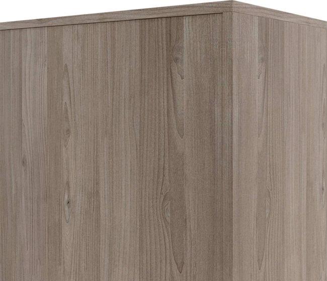 CHOICE Schiebetürenschrank | 3 OH, 800 x 1115 mm, Nordeiche grau / Cubanitgrau