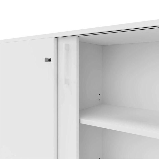 CHOICE Schiebetürenschrank | 3 OH, 800 x 1115 mm, Weiß