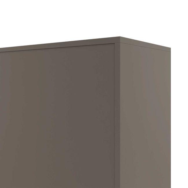 CHOICE Schiebetürenschrank   4 OH, 1600 x 1465 mm, Cubanitgrau / Sandesche