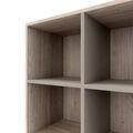 CHOICE Bücherregal | 1 OH, 1600 x 410 mm, Nordeiche grau / Cubanitgrau