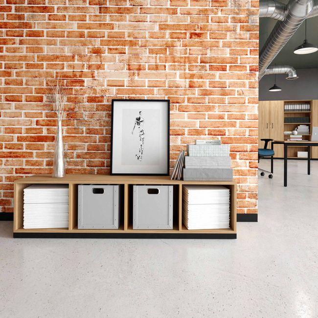 CHOICE Bücherregal | 1 OH, 1600 x 410 mm, Bernsteineiche