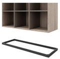 CHOICE Bücherregal | 1 OH, 800 x 410 mm, Nordeiche grau / Cubanitgrau