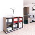 CHOICE Bücherregal | 2 OH, 1200 x 760 mm, Nordeiche grau / Cubanitgrau