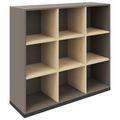 CHOICE Bücherregal | 3 OH, 1200 x 1115 mm, Cubanitgrau / Sandesche