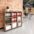 CHOICE Bücherregal | 3 OH, 1200 x 1115 mm, Bernsteineiche