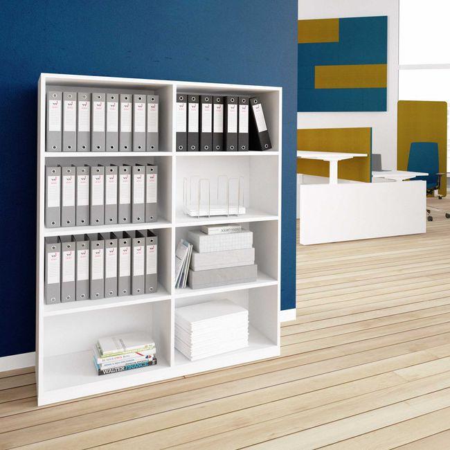 CHOICE Bücherregal | 4 OH, 1200 x 1465 mm, Weiß