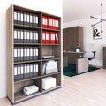 CHOICE Bücherregal | 5 OH, 1200 x 1820 mm, Nordeiche grau / Cubanitgrau