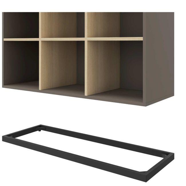 CHOICE Bücherregal   6 OH, 1000 x 2170 mm, Cubanitgrau / Sandesche
