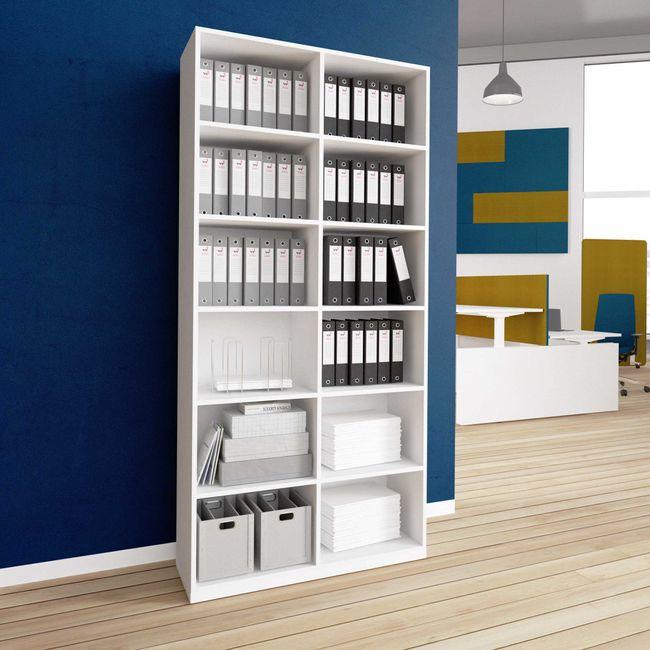 CHOICE Bücherregal | 6 OH, 1000 x 2170 mm, Weiß