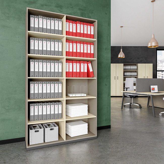 CHOICE Bücherregal | 6 OH, 1200 x 2170 mm, Cubanitgrau / Sandesche