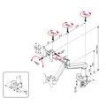 Monitorhalter   Gasfederunterstützung, 200 - 500 mm, Weiß