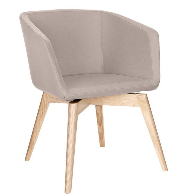 MEG Lounge-Sessel | 4-Fuß-Gestell, Wollbezug VELITO