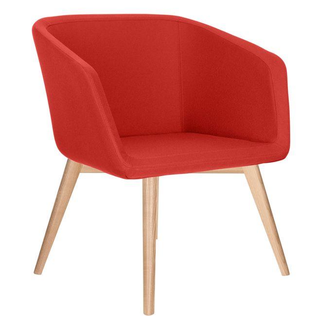 MEG Lounge-Sessel   4-Fuß-Gestell, Polyesterbezug LUCIA