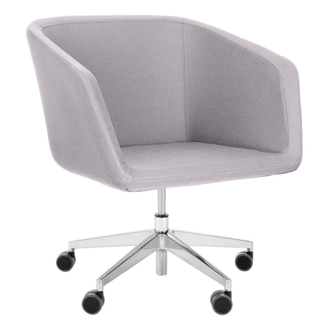 MEG Lounge-Sessel | Auf Rollen, Polyesterbezug LUCIA