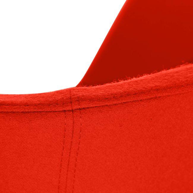 MEG Lounge-Sessel   4-Fuß-Gestell, Wollbezug VELITO