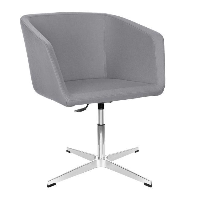 MEG Lounge-Sessel   4-Fuß-Kreuz, höhenverstellbar, Wollbezug VELITO