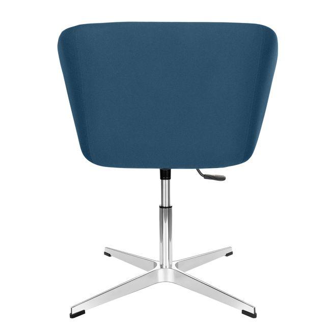 MEG Lounge-Sessel | 4-Fuß-Kreuz, höhenverstellbar, Polyesterbezug LUCIA