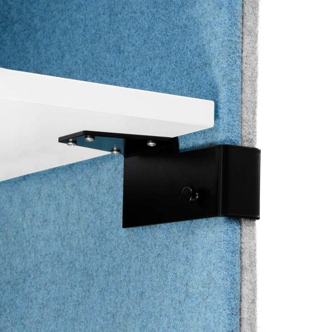 MODUS Akustik-Tischtrennwand   740 mm hoch, Polyesterbezug BERTA