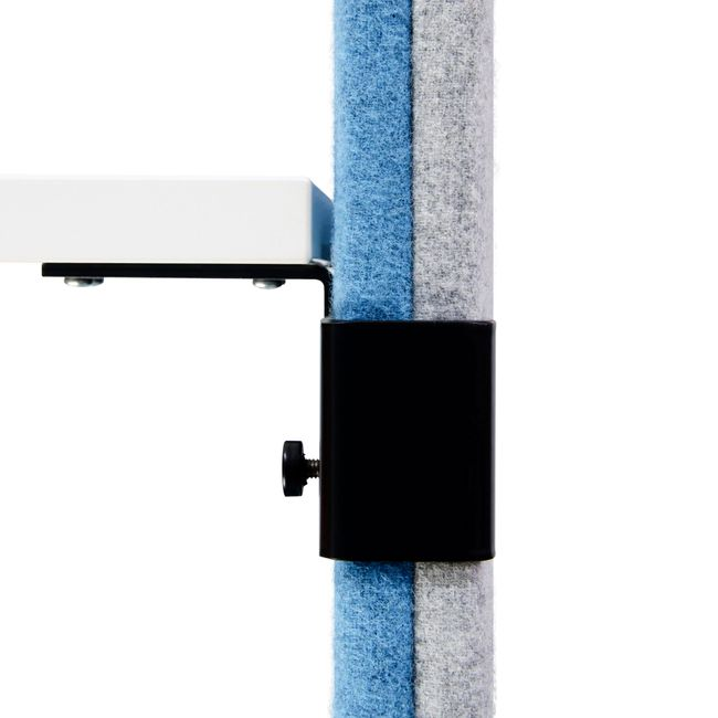 MODUS Akustik-Tischtrennwand | 740 mm hoch, Polyesterbezug LUCIA