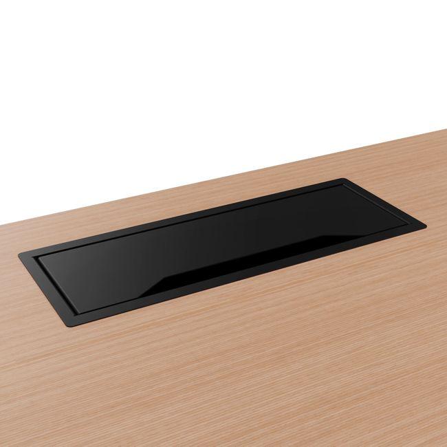 MOTION Schreibtisch mit Sideboard | Elektrisch höhenverstellbar, 2000 x 1800 mm, Sandesche