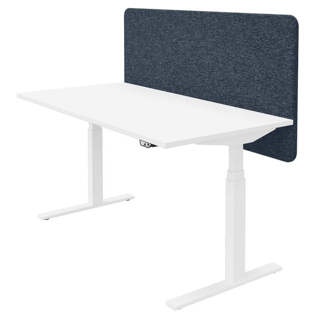 DESK Akustik-Tischtrennwand | 760 mm hoch, Polyesterbezug BERTA