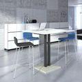 MOON Barhocker   Stapelbar, 4-Fuß-Gestell, Gepolsterte Sitzfläche, Polyesterbezug LUCIA