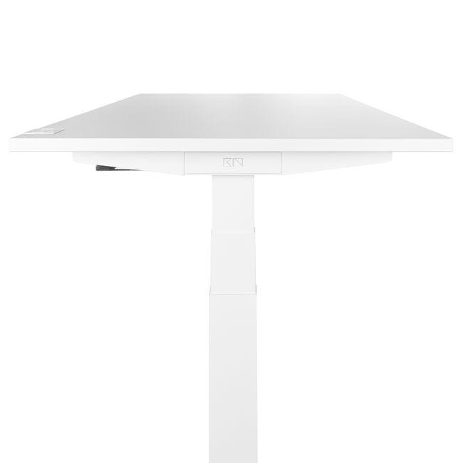 König + Neurath – Active T Schreibtisch   Elektrisch höhenverstellbar, Steckdosenleiste, Kabelwanne, 1600 x 800 mm, Weiß