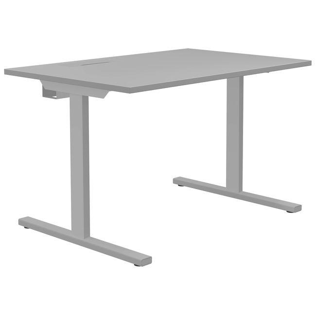 T-EASY Schreibtisch   1200 x 800 mm, Elektrifizierung, Perlgrau