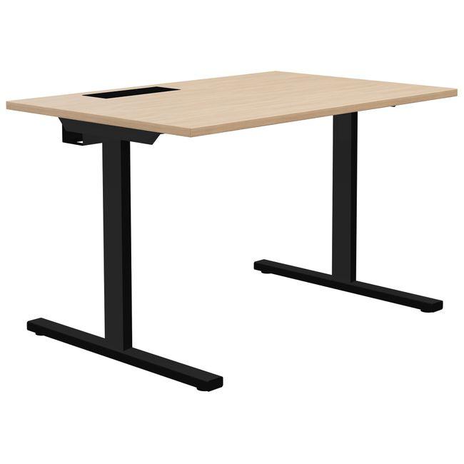 T-EASY Schreibtisch | 1200 x 800 mm, Elektrifizierung, Bernsteineiche