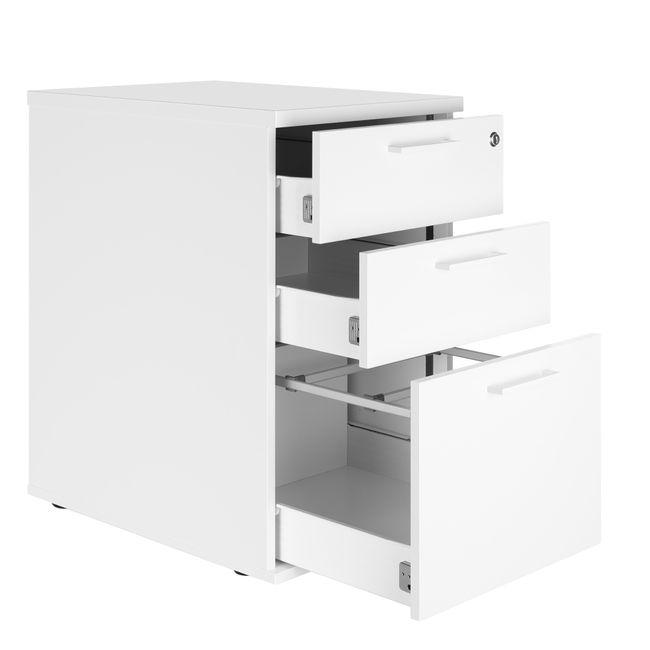 OPTIMA Standcontainer | 600 mm tief, Weiß
