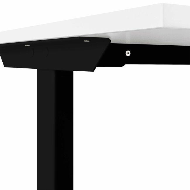 T-EASY Schreibtisch   1200 x 800 mm, Elektrifizierung, Cubanitgrau