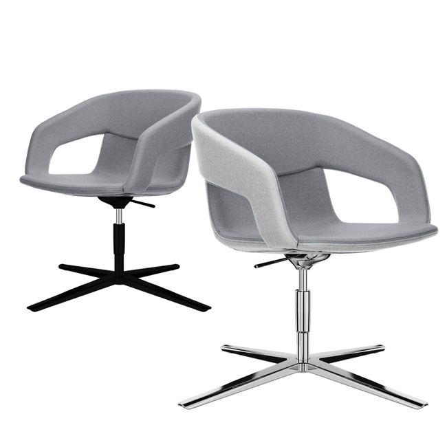 TWIST&SIT Lounge-Sessel   4-Fuß-Kreuz, höhenverstellbar, Wollbezug SYNERGY