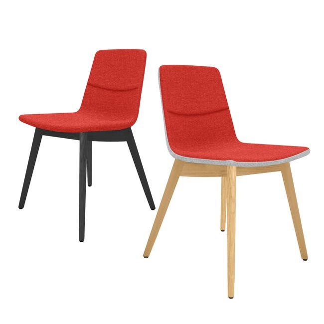 TWIST&SIT Besucher- und Konferenzstuhl | Massivholz-Gestell, Wollbezug SYNERGY