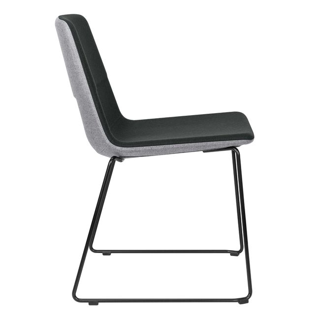 TWIST&SIT Besucher- und Konferenzstuhl | Kufengestell, Wollbezug VELITO