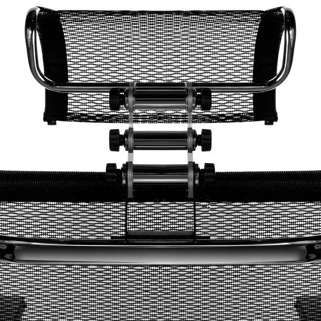 PALA Black Edition Bürodrehstuhl   Lordosenstütze, Kopfstütze, Netzrücken, Schwarz