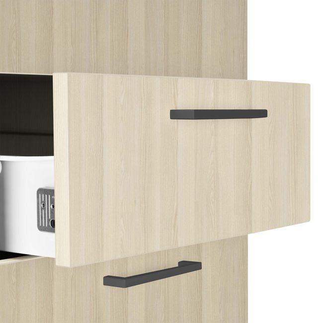 OPTIMA Rollcontainer   3 Schubladen + 1 Kleinteilefach, 600 mm tief, Sandesche
